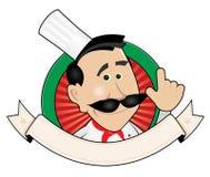 Bandeira do cozinheiro do cozinheiro chefe Imagens de Stock