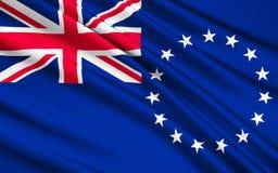 Bandeira do cozinheiro Islands New Zealand, Avarua - Polinésia ilustração stock