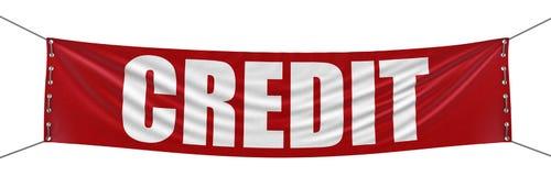 Bandeira do crédito (trajeto de grampeamento incluído) Imagens de Stock