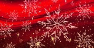 Bandeira do cristal de gelo do Natal, fundo Imagens de Stock Royalty Free