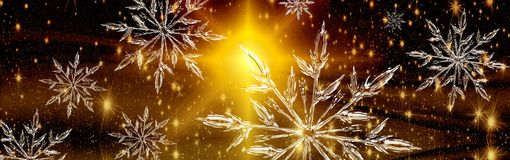 Bandeira do cristal de gelo do Natal, fundo Fotografia de Stock