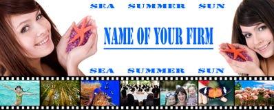 Bandeira do curso Imagens de Stock Royalty Free