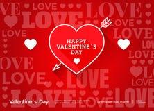 Bandeira do dia de Valentim Fotografia de Stock Royalty Free