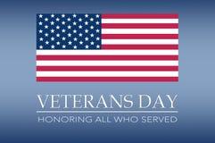 Bandeira do dia de veteranos foto de stock