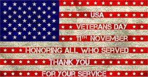 Bandeira do dia de veteranos Fotografia de Stock