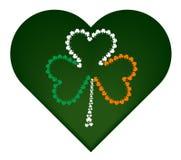 Bandeira do dia do ` s de St Patrick com trevo pequeno Imagens de Stock