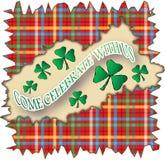 Bandeira do dia do St. Patrick Fotos de Stock