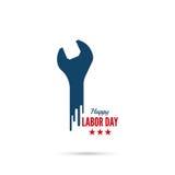 Bandeira do Dia do Trabalhador ilustração stock