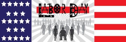 Bandeira do Dia do Trabalhador Foto de Stock