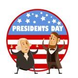 Bandeira do dia dos presidentes Fotografia de Stock