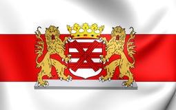 Bandeira do Enschede, Países Baixos Imagem de Stock Royalty Free