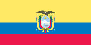 Bandeira do equador Fotos de Stock