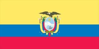 Bandeira do equador ilustração stock