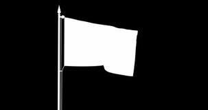 Bandeira do estado da república italiana que move-se no vento no mastro de bandeira na frente de um céu nebuloso