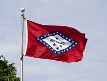 Bandeira do estado de Arkansas Fotos de Stock