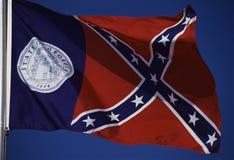 Bandeira do estado de Geórgia Imagem de Stock
