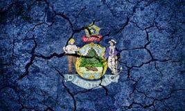 Bandeira do estado de Maine fotos de stock royalty free