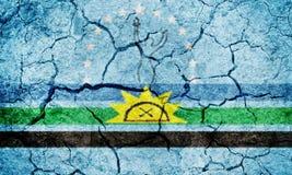 Bandeira do estado de Monagas foto de stock