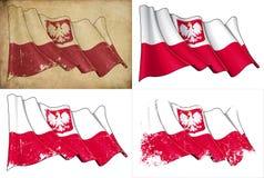 Bandeira do estado de Poland ilustração royalty free
