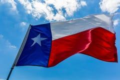 Bandeira do estado de Texas Imagens de Stock