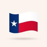 Bandeira do estado de Texas EUA ilustração do vetor