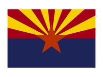 Bandeira do estado dos EUA do Arizona ilustração do vetor