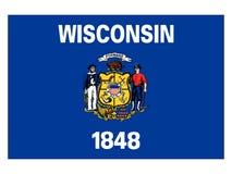 Bandeira do estado dos EUA de Wisconsin ilustração stock