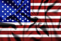 Bandeira do Estados Unidos da América do close up ilustração do vetor