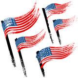 Bandeira do Estados Unidos da América, fundo do Grunge do curso da escova Imagens de Stock