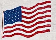 Bandeira do Estados Unidos da América pintada em uma parede imagem de stock royalty free