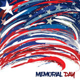 A bandeira do Estados Unidos projetou com cursos da escova para Memorial Day fotografia de stock royalty free