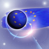 Bandeira do europeu Foto de Stock