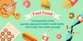 Bandeira do fast food Fotografia de Stock Royalty Free