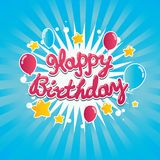 Bandeira do feliz aniversario Fotos de Stock Royalty Free