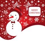 Bandeira do Feliz Natal com flocos de neve Fotografia de Stock Royalty Free