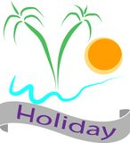 Bandeira do feriado da praia para businees Imagem de Stock