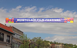 Bandeira do festival de cinema de Montclair Fotografia de Stock Royalty Free
