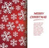 Bandeira do floco de neve para a ilustração eps 10 do vetor do fundo do conceito do Natal da Web ilustração stock