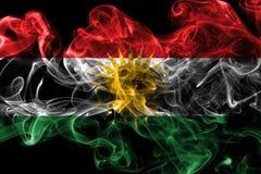 Bandeira do fumo do Curdistão, bandeira dependente do território de Iraque imagem de stock