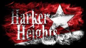 Bandeira do fumo da cidade das alturas de Harker, Texas State, Estados Unidos da América Fotografia de Stock Royalty Free