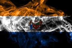 Bandeira do fumo da cidade de Albany, estado novo de Yor, Estados Unidos da Am?rica ilustração royalty free