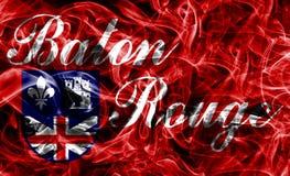 Bandeira do fumo da cidade de Baton Rouge, estado de Louisiana, Estados Unidos de A Fotos de Stock Royalty Free