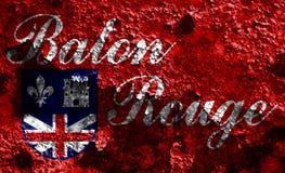 Bandeira do fumo da cidade de Baton Rouge, estado de Louisiana, Estados Unidos de A Imagem de Stock Royalty Free