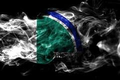 Bandeira do fumo da cidade de Brooklyn Park, estado de Minnesota, Estados Unidos de ilustração royalty free