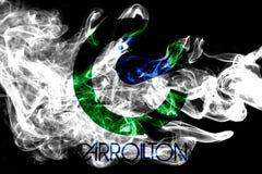 Bandeira do fumo da cidade de Carrollton, Texas State, Estados Unidos de Ameri foto de stock royalty free