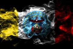 Bandeira do fumo da cidade de Columbo, estado de Ohio, Estados Unidos da América ilustração royalty free