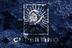 Bandeira do fumo da cidade de Cupertino, estado de Califórnia, Estados Unidos do Am Fotos de Stock Royalty Free