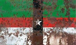Bandeira do fumo da cidade de Denison, Texas State, Estados Unidos da América Fotos de Stock Royalty Free