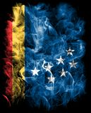 Bandeira do fumo da cidade de Durham, Carolina State norte, Estados Unidos da América Imagens de Stock Royalty Free