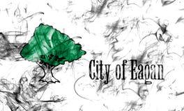 Bandeira do fumo da cidade de Eagan, estado de Minnesota, Estados Unidos da América Foto de Stock Royalty Free
